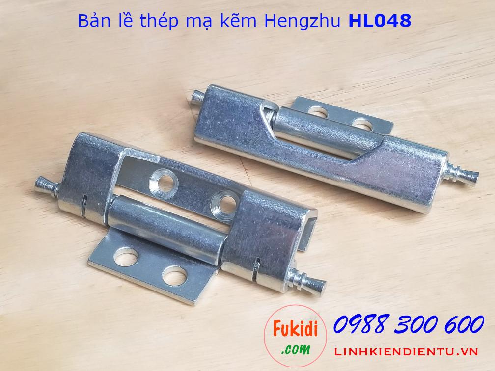 Bản lề tủ điện Hengzhu HL048 chất liệu thép mạ kẽm, dài 90mm