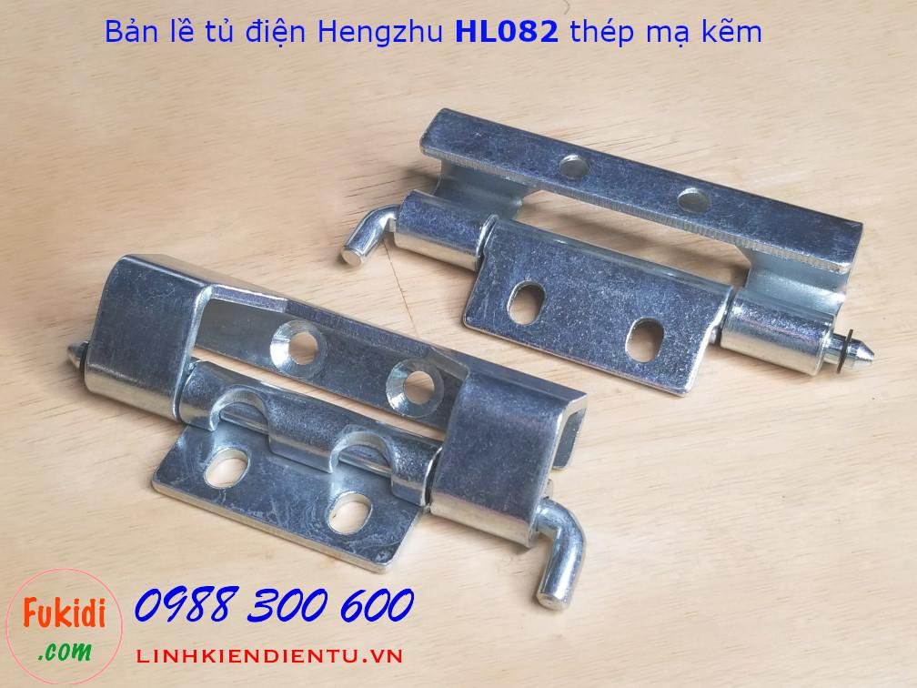 Bản lề tủ điện Hengzhu HL082 chất liệu thép mạ kẽm dài 90mm