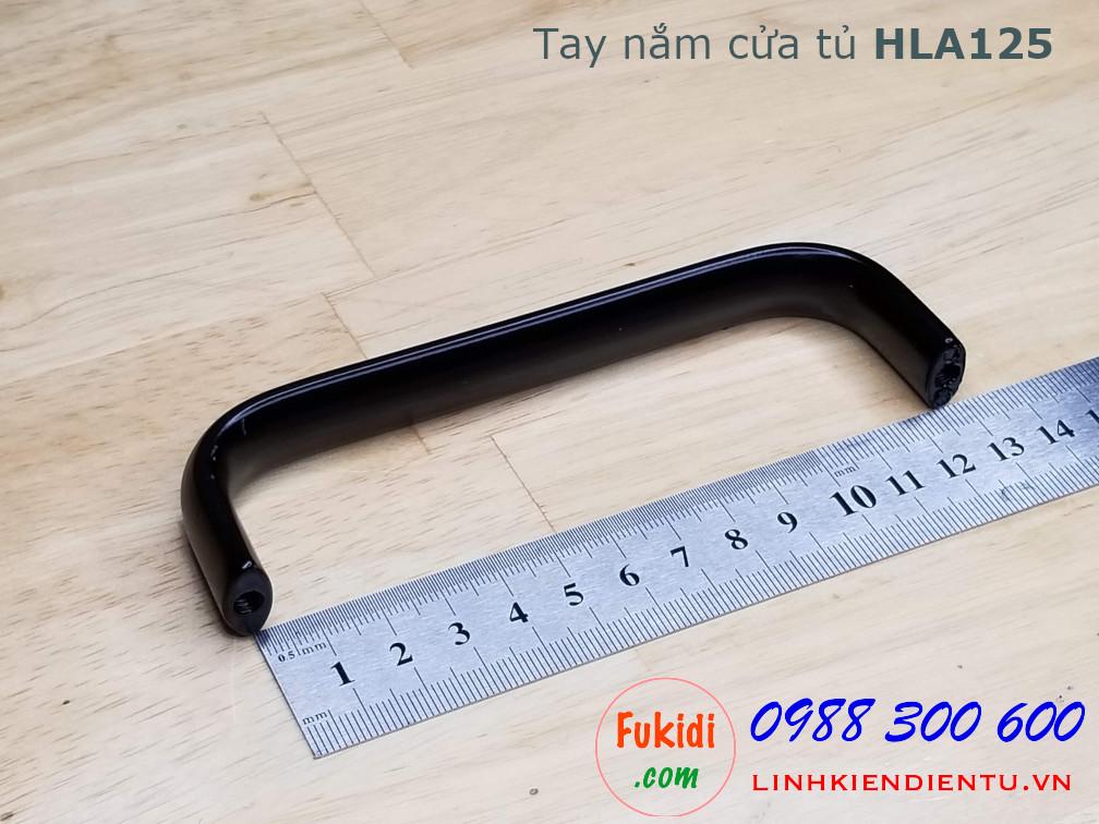 Tay nắm cửa tủ chữ D, chất liệu hợp kim nhôm, dài 125mm model HLA125