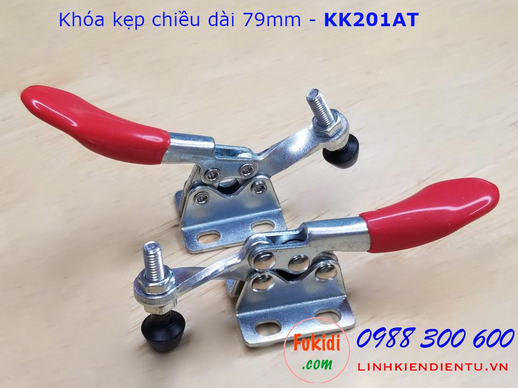 Khóa kẹp chiều dài 79mm chất liệu thép, dùng để giữ đồ vật trong khi chế biến  - KK201AT