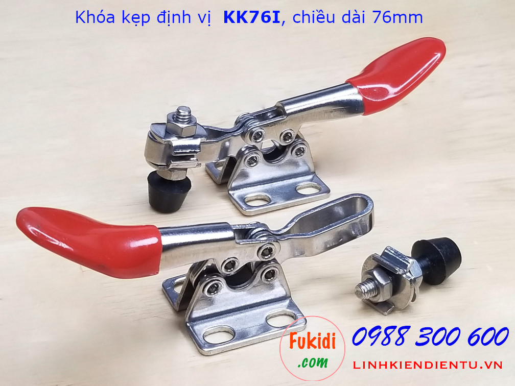 Khóa kẹp định vị, khóa giữ inox 304, chiều dài 76mm - KK76I