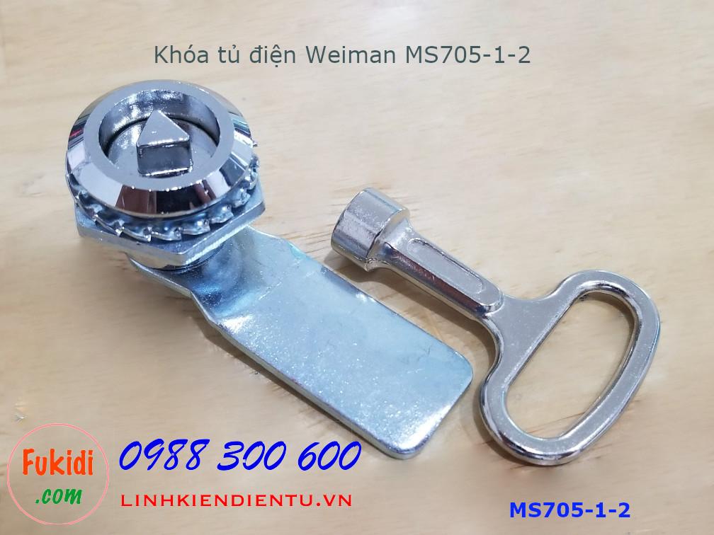 Khóa tủ điện MS705-1-2 đầu tam giác