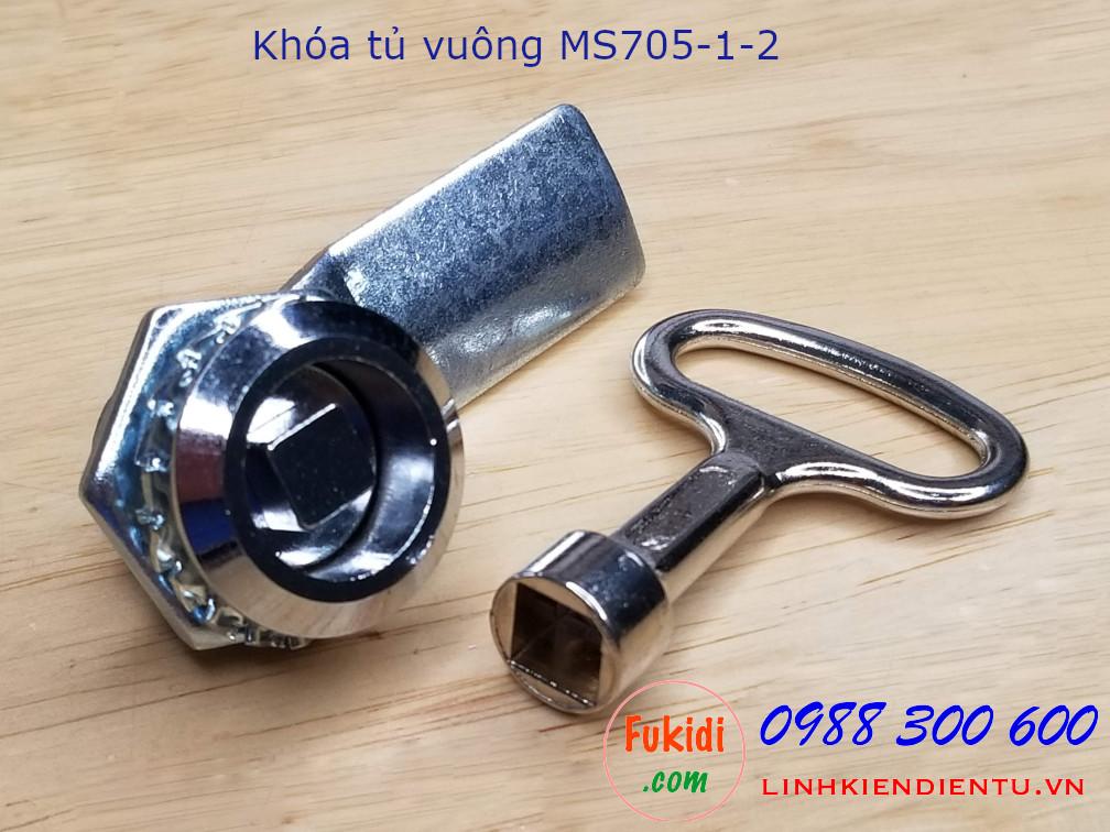 Khóa tủ điện MS705-1-2 đầu vuông