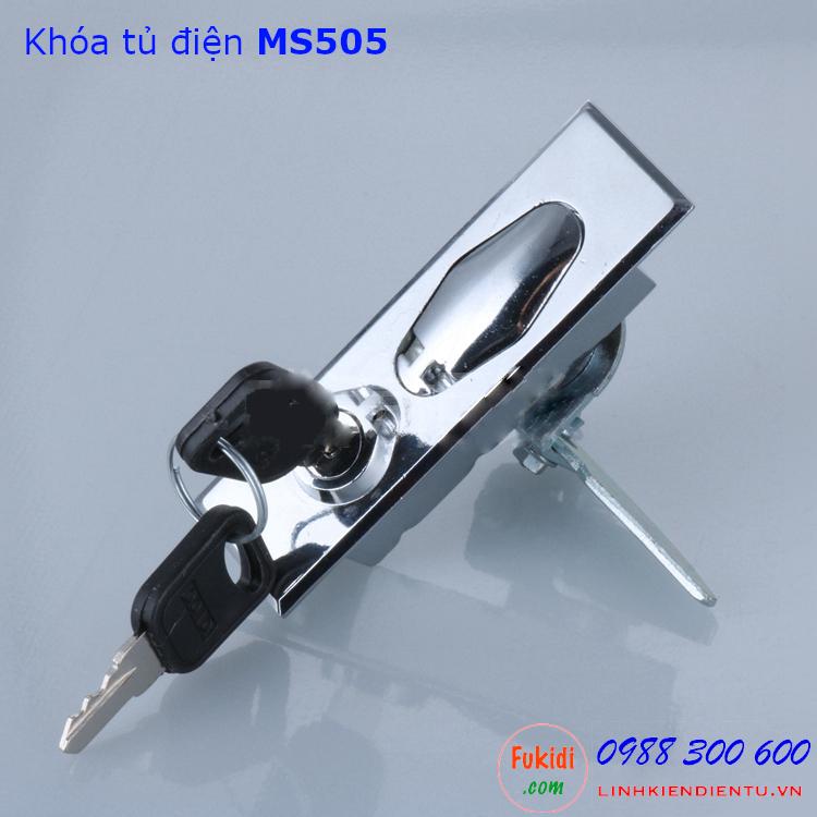Khóa tủ điện MS505 chất liệu kẽm, có chìa khóa