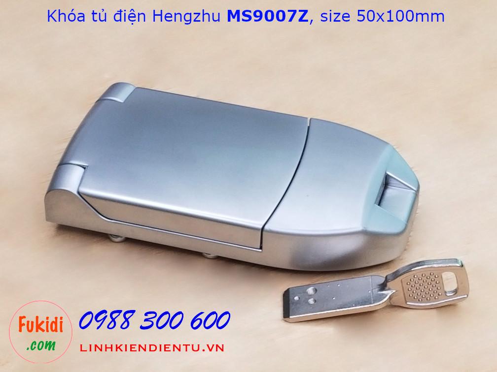 Khóa tủ điện Hengzhu MS9007Z, hợp kim kẽm có chìa khóa, size 50x100mm
