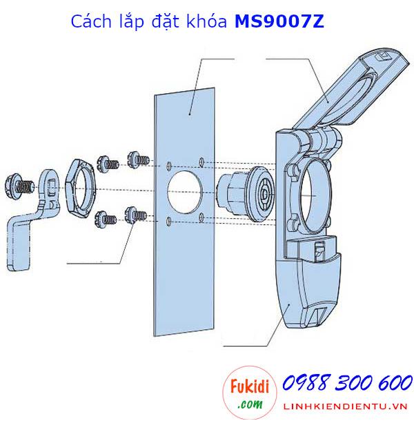 Cách sử dụng và lắp đặt khóa tủ điện Hengzhu MS9007Z