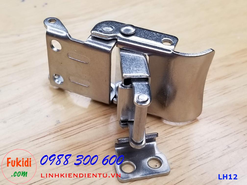 Móc khóa gài hộp dụng cụ LH12, chất liệu inox 304 màu bạc