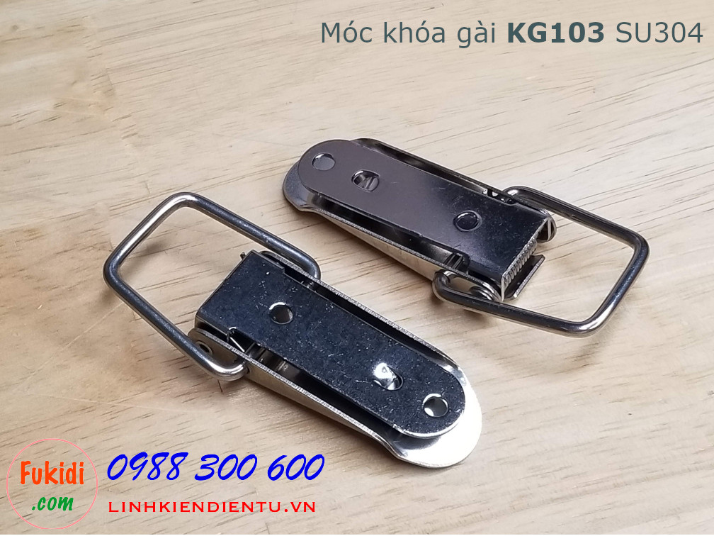 Móc khóa gài KG103 inox 304 kích thước 75x22.5mm