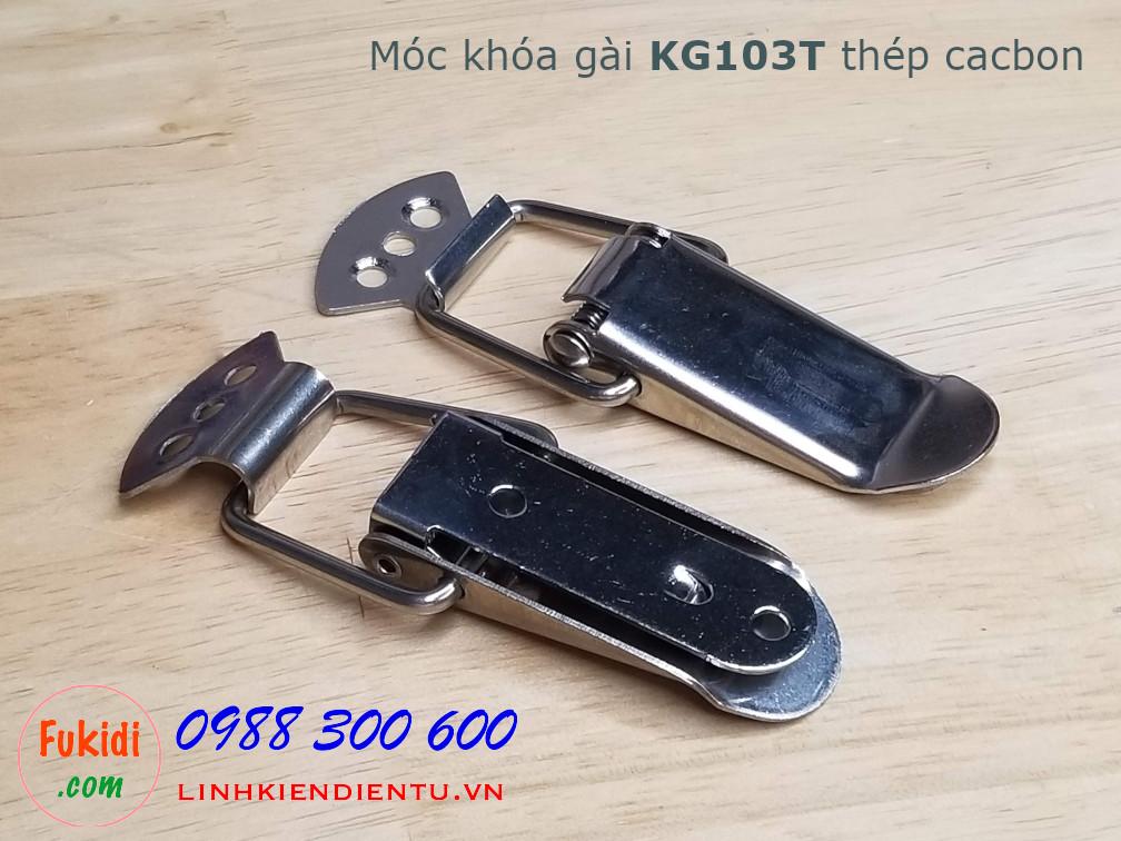 Móc khóa gài KG103T thép cacbon kích thước 75x22.5mm