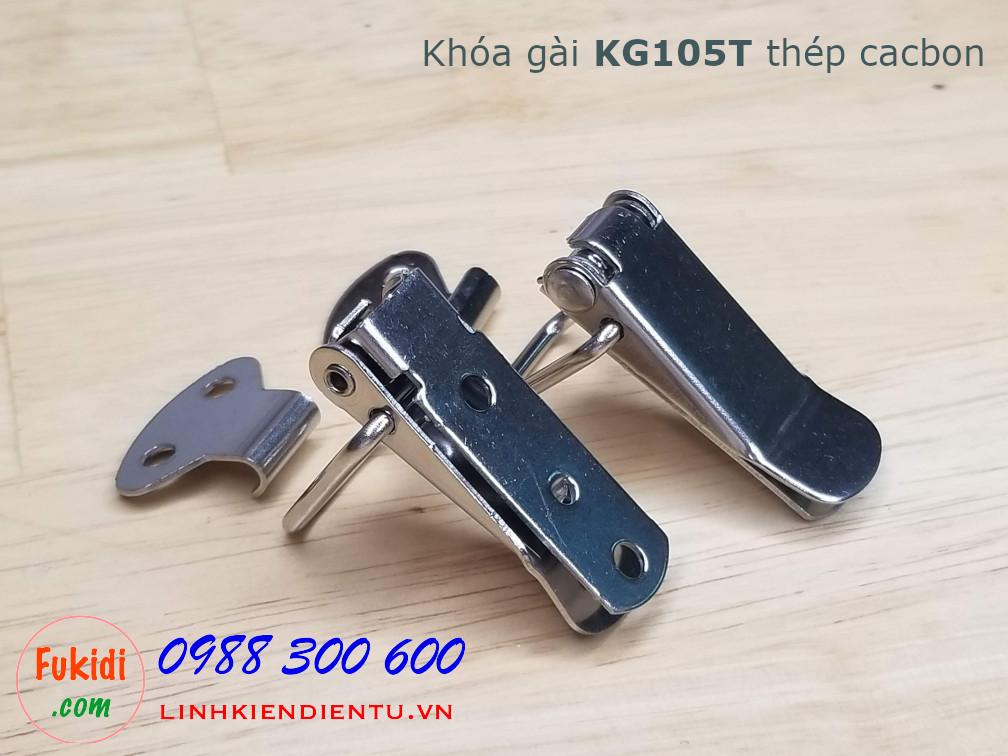 Khóa gài KG105T chất liệu thép cacbon kích thước 75x25mm