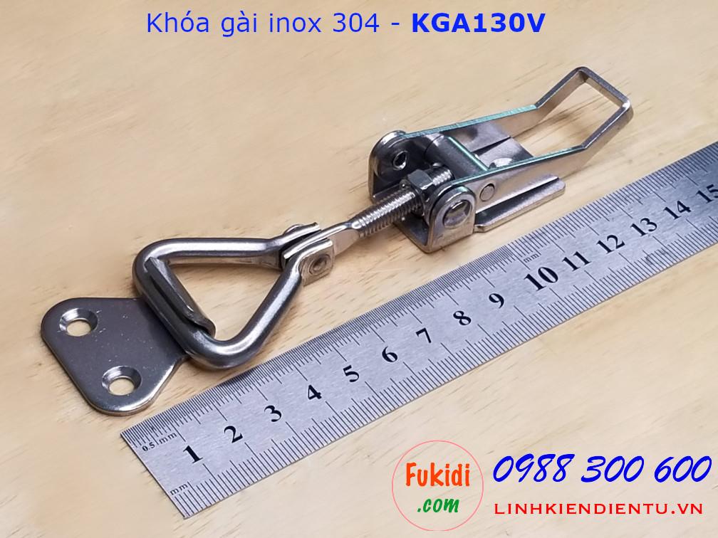 Khóa gài SU304 tay kéo gập và thay đổi chiều dài - KGA130V