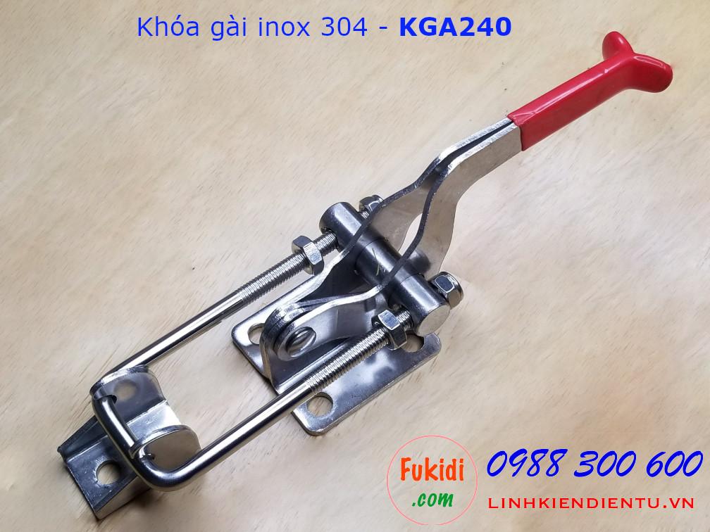Khóa gài SU304 chiều dài 240mm thay đổi được - KGA240