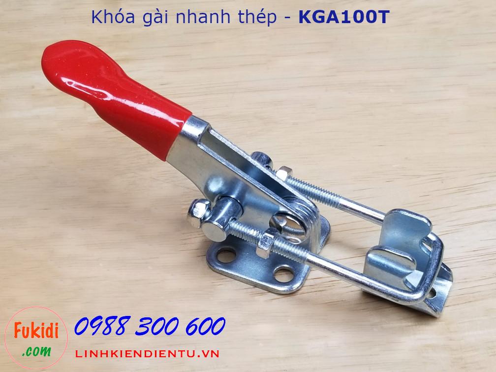 Khóa gài thép dài 10cm, tay kéo có chiều dài thay đổi - KGA100T