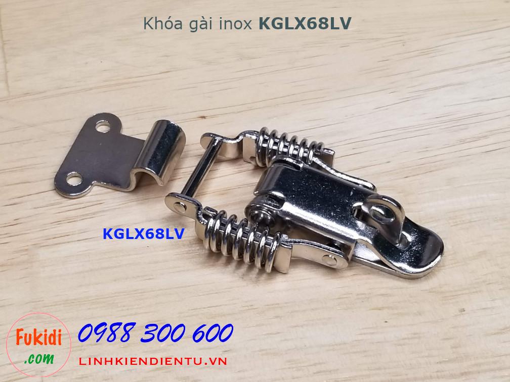 Khóa gài inox có lò xo, dùng gài góc vuông - KGLX68LV