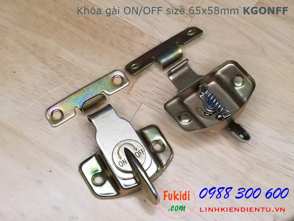 Khóa gài ON/OFF kích thước 65x58mm - KGONFF