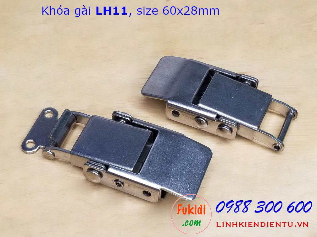 Khóa gài LH11 thép kích thước 60x28mm - LH11T