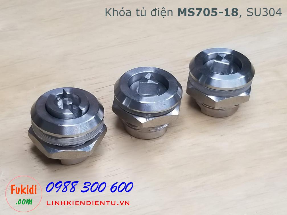 Khóa tủ điện MS705-18 chất liệu SU304 phi 22mm loại chữ S