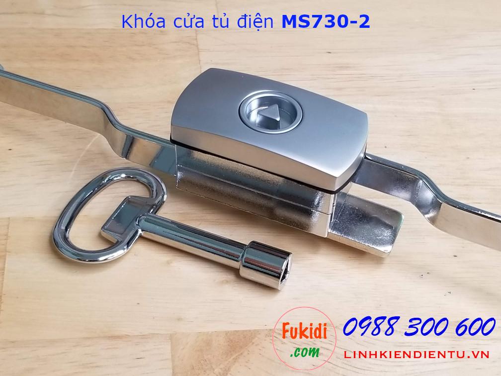 Khóa tủ điện tam giác MS730-2  dài từ 216 đến 246mm mặt khóa hộp kim nhôm