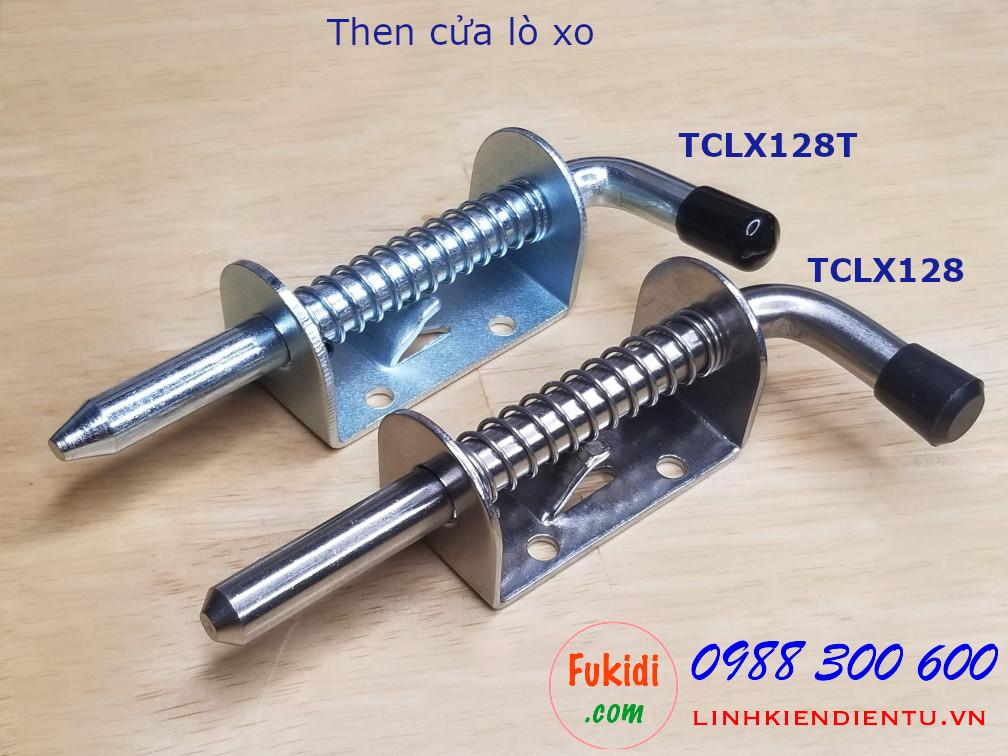 Then cửa lò xo inox 304 dài 128mm - TCLX128