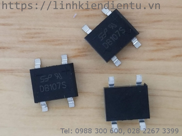 DB107S: Diode cầu chỉnh lưu 1000V/1A
