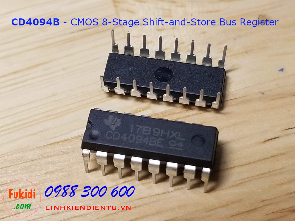 CD4094B CMOS 8-Stage Shift-and-Store Bus Register