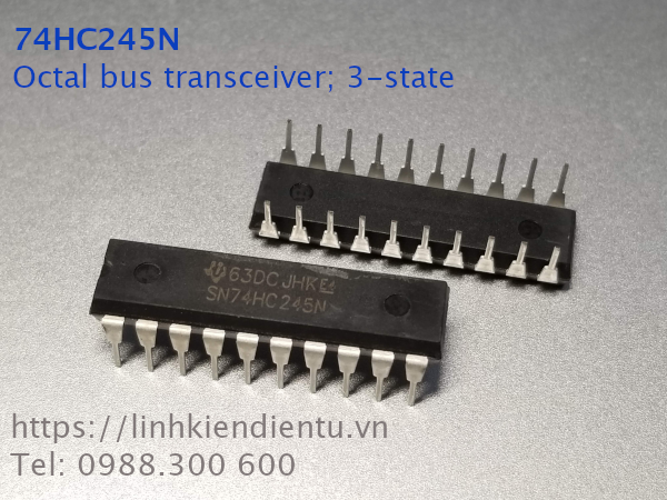 74HC245N Octal bus transceiver; 3-state