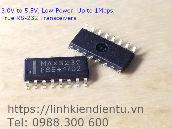 MAX3232 True RS-232 Transceivers