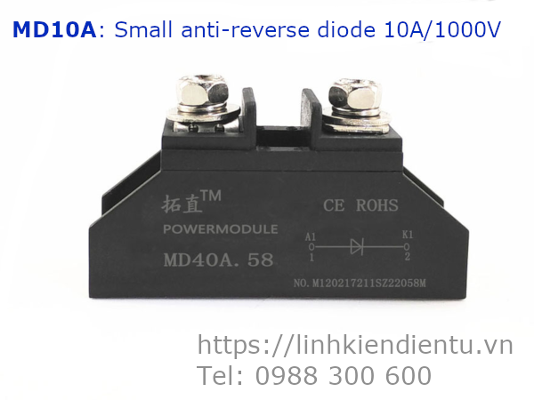 MD10A Small anti-reverse diode 10A/1000V