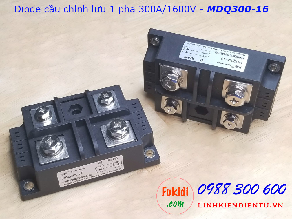 Diode cầu chỉnh lưu một pha 300A 1600V - MDQ300-16