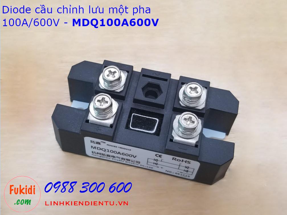MDQ100A600V Single-Phase Rectifier Bridge 100A 600V