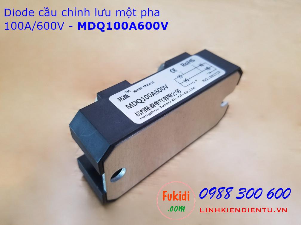 MDQ100A600V diode cầu chỉnh lưu một pha 100A/600V