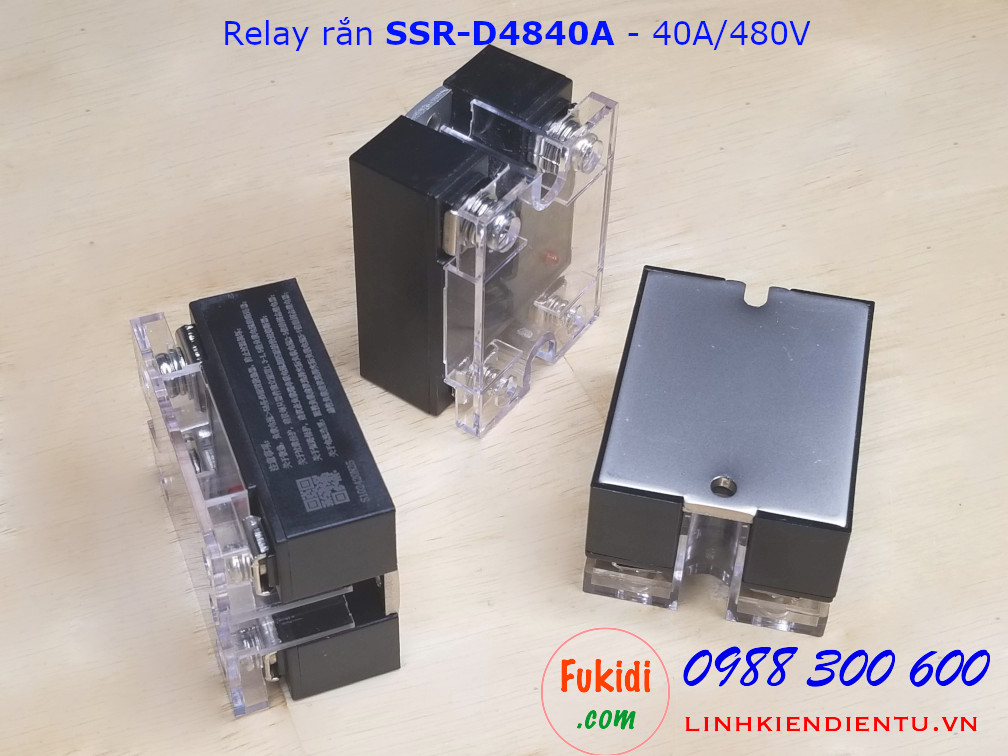 Module relay rắn SSR 40A/480VAC DC điều khiển AC SSR-D4840A