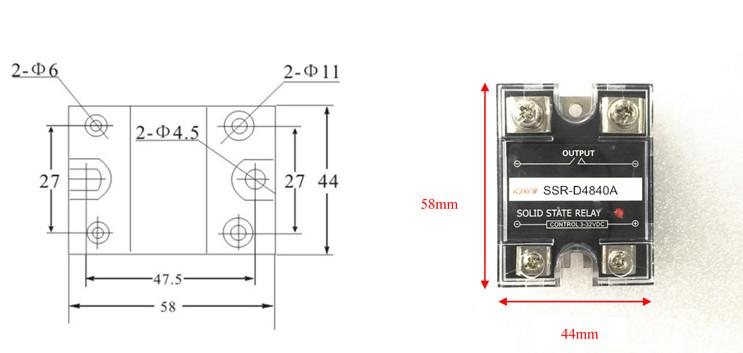 Module relay rắn SSR 10A/480VAC DC điều khiển AC SSR-D4810A