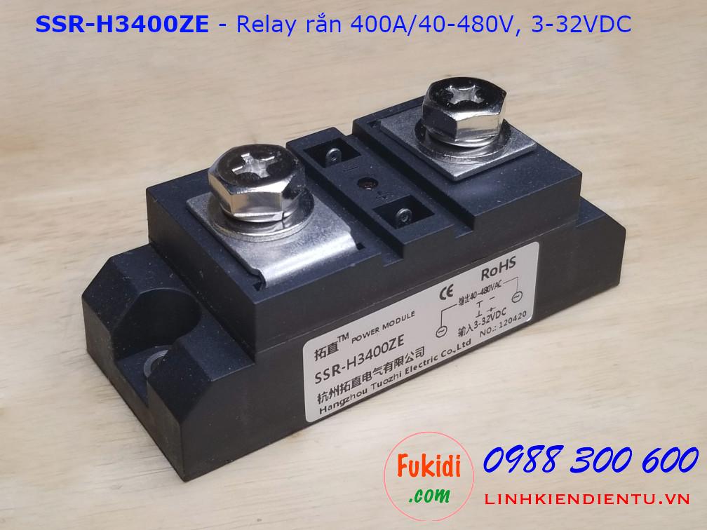 Relay rắn chuẩn công nghiệp 400A DC điều khiển AC SSR-H3400ZE