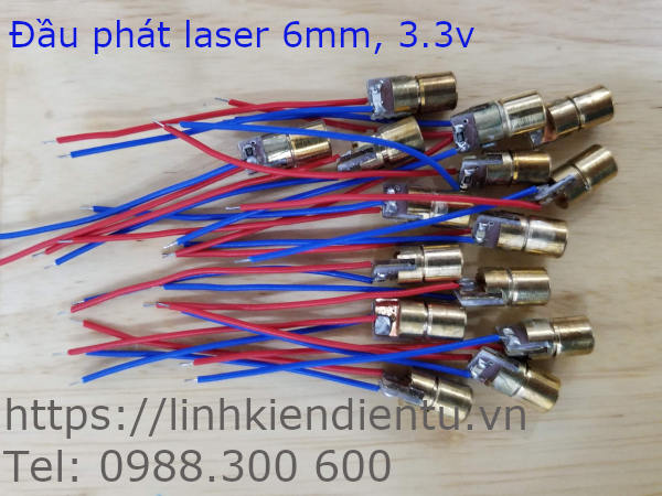 Đầu phát laser 6mm, 3.3V