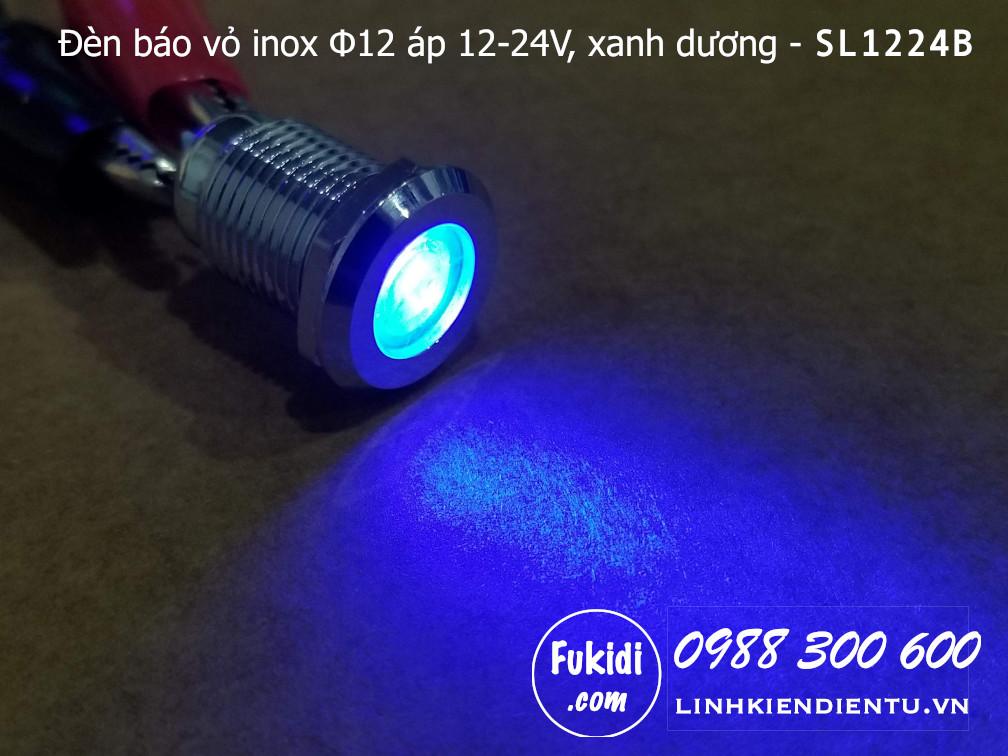 Khi đèn báo tín hiện SL1224B được cấp điện