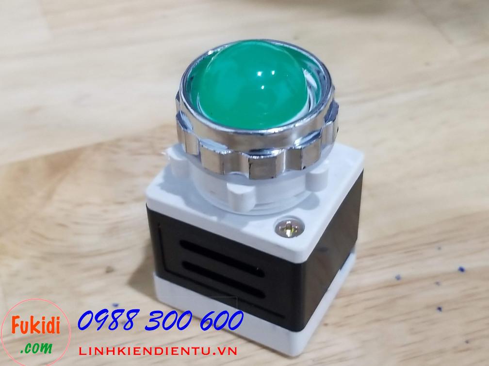 AD11-25 đèn LED báo nguồn phi 25mm điện áp 24V màu xanh