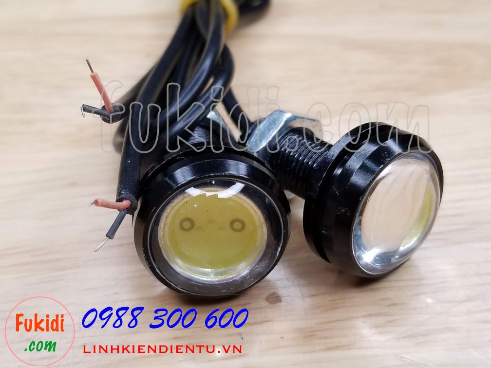 Đèn xi nhan cúc áo LED phi 23mm, điện áp 12V sáng màu đỏ