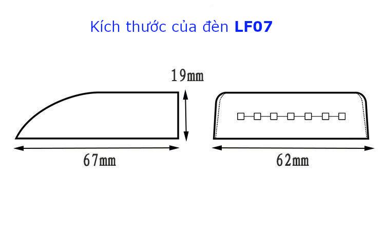Đèn chiếu sáng tủ áo, kệ bếp, tắc mở bằng cảm ứng tiệm cận với cửa tủ, model LF07