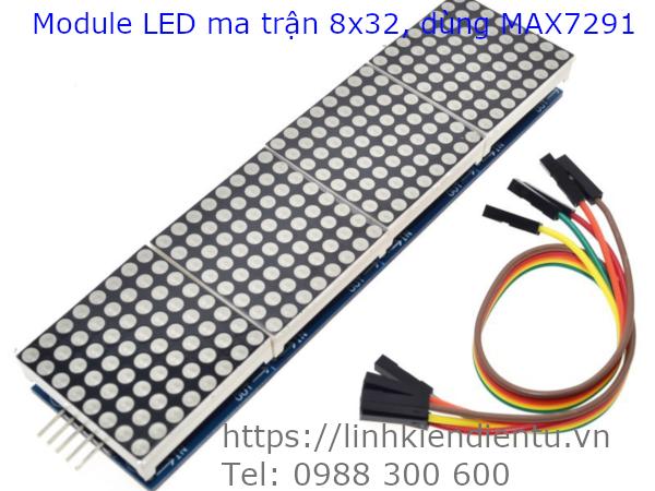 Module Led Matrix 8x32 dùng MAX7219