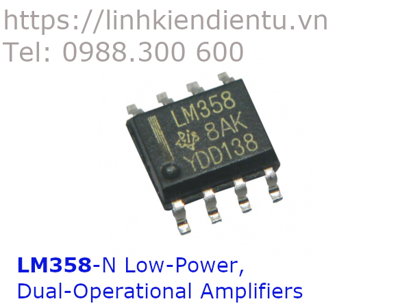 LM358 Low-Power, Dual-Operational Amplifiers