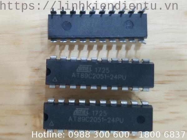AT89C2051-24PU: 8-bit MCS với 2KByte Flash, 128Bytes SRAM, 20 chân PDIP