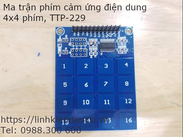 Ma trận phím cảm ứng điện dung 4x4 phím TTP-229