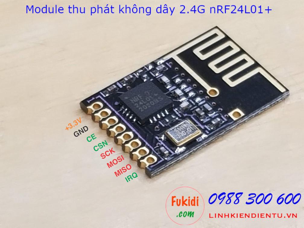 Mạch thu phát sóng RF 2.4GHz nRF24L01+ mini dùng truyền nhận dữ liệu không dây, giao tiếp SPI