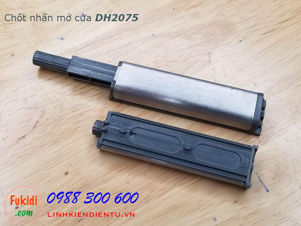 Chốt nhấn mở cửa tủ size 75x20mm màu trắng model DH2075
