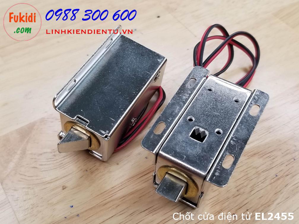 Then cửa, chốt cửa điện tử dùng để khóa-mở cửa bằng điện 24V, dùng cho nhà thông minh EL2455