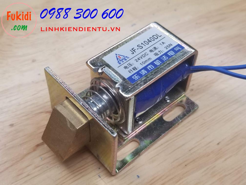 Then cửa điện tử JF-S1040DL 12V hoặc 24VDC 1A, chiều dài then 10mm, lực kéo 25N