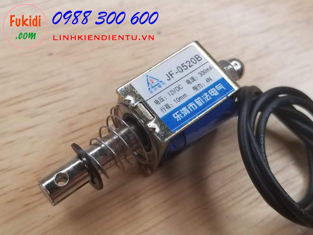 Then cửa điện tử JF-0520B 12V hoặc 24VDC 300mA, chiều dài then 10mm, lực kéo 4N