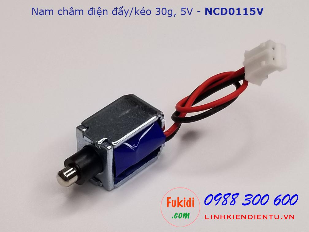 Chốt kéo đẩy nam châm điện 30g 5V - NCD0115V