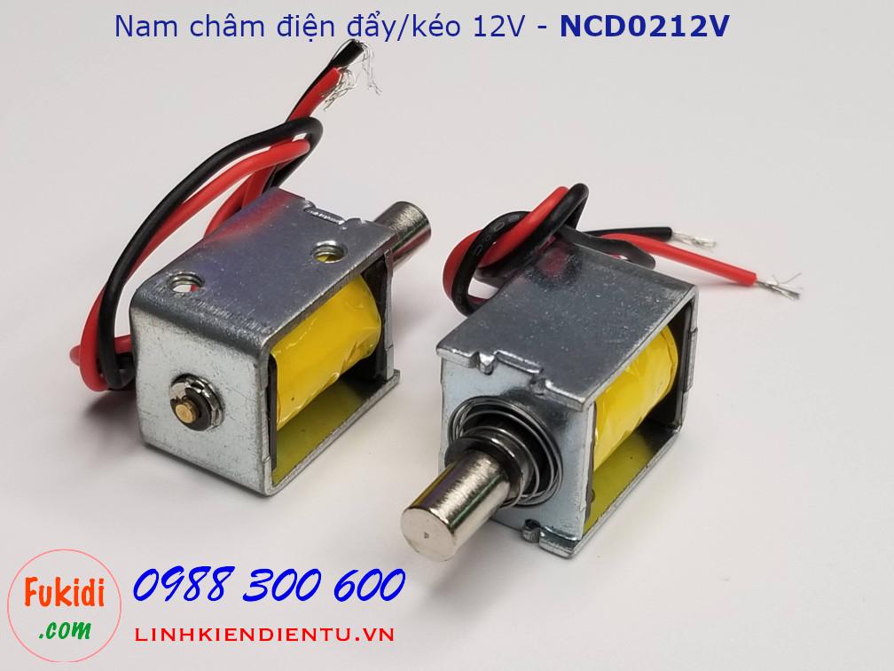 Chốt nam châm điện đẩy-kéo 12V - NCD0212V
